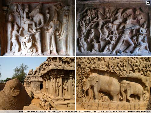 The monuments of Mahabalipuram (also known as Mamallapuram)