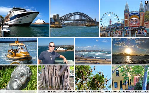 A selection of the photographs I took while walking around Sydney.