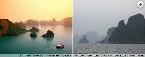 Ha Long Bay. An anticlimax.