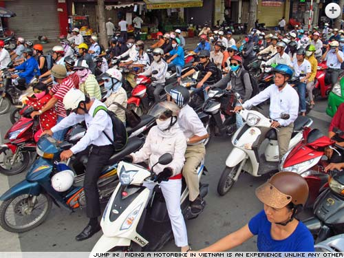 How to ride a motorbike around Vietnam - Simon Jones motorbikes through Vietnam.