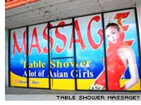 Table shower massage?