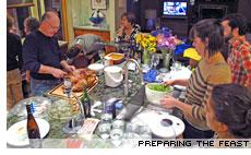 Thanksgiving feast preparation