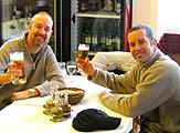 Simon Jones with Peter Jones
