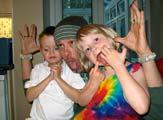 Simon Jones with Jacob and Sumalee Marshall