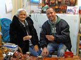 Simon Jones with Mrs Pi