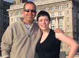Sarah Dawrant in liverpool with Simon Jones