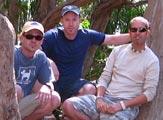 Simon Jones with Kevin Olsen and Josh Sheridan